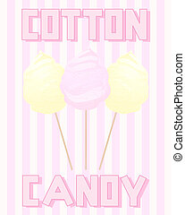 vintage cotton candy - an illustration of a vintage advert...