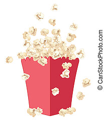 popcorn - an illustration of delicious fresh popcorn jumping...