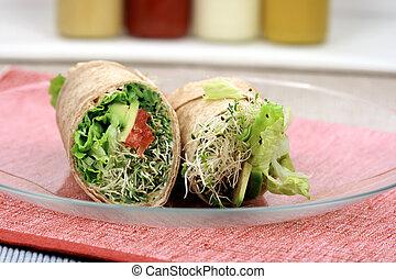 sandwich wrap organic style - fresh sandwich wrap made with...