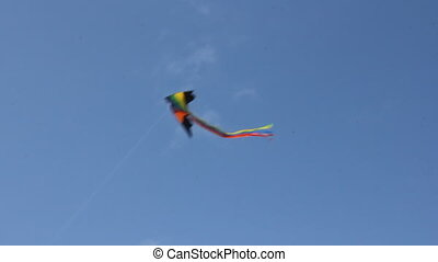 Kite flying under blue sky 8955