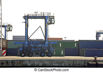 Machines to move the containers