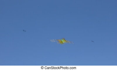 Kite flying under blue sky 8943