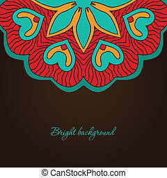 Vintage background with bright colors mandala and place for...