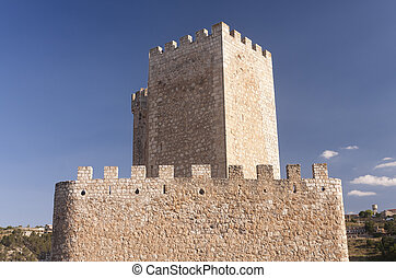 small castle - small spanish castle in albacete province