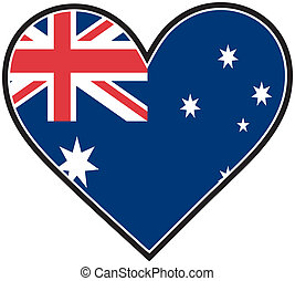 Australia Heart Flag - The Australian flag in the shape of a...