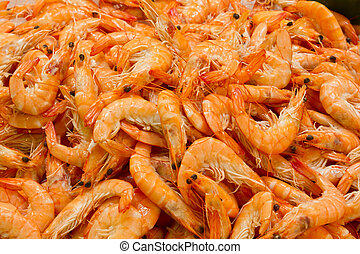 Fresh Prawns, Closeup, format filling