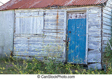 Old wooden shed - Old and weathered wooden shed