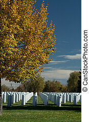 Fort Logan National Cemetary in the Autumn