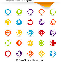 Infographic cogwheels - Collection of vector inforgaphic...