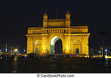 The Gateway of India is a monument in Mumbai, India