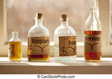 Happy life simple recipe drugstore components in a phials...