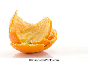 Orange Peel - used orange peel and pips after eating orange