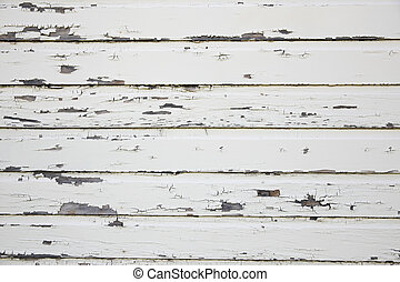 White Weathered Wooden Barn Wall