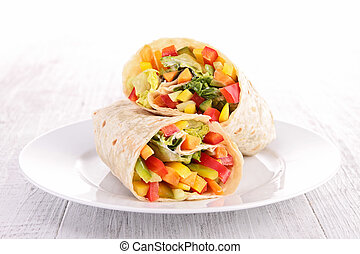 vegetable sandwich wrap