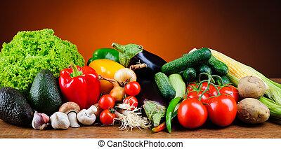 新鮮, 蔬菜, 有机