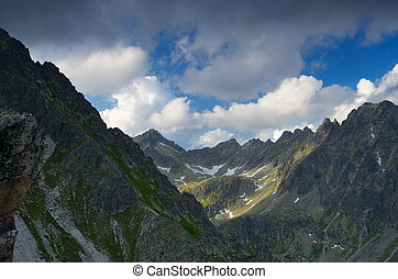 Mountain peaks - Summer landscape with mountain peaks