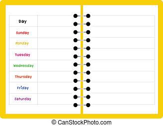 notebook weekly planner