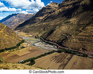 Urubamba valley near Pisac Peru