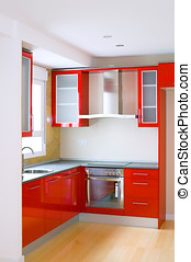 kitchen furniture in a new and empty house