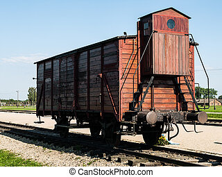Transport vagon in Birkenau (Poland)