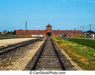 Birkenau concentration camp - Train platform in Birkenau...