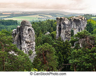 Sandstone formations in Bohemian Paradise Czech Republic
