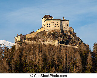 Tarasp castle near Scuol (Switzerland)