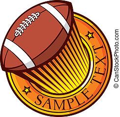 american football (rugby) club emblem