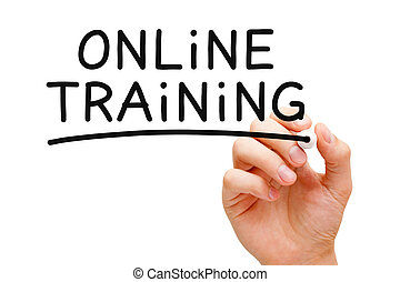 Online Training - Hand writing Online Training with black...
