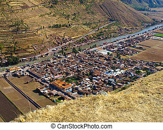 Pisac village near Cusco Peru