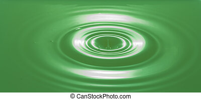 Green Colored Water Splashing With Ripples