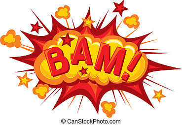 cartoon - bam Comic bam explosion