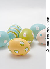 Hand Painted Easter Eggs in Pastel Colors