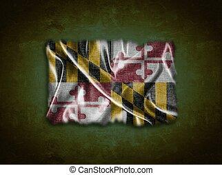 Vintage Maryland flag.