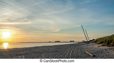 Chesapeake Bay Beach - A view of Chick's beach on the...