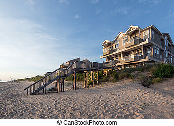 Beach House on the Chesapeake Bay - A beach house located on...