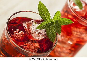 Cold Refreshing Berry Hibiscus Ice Tea - Cold Refreshing...