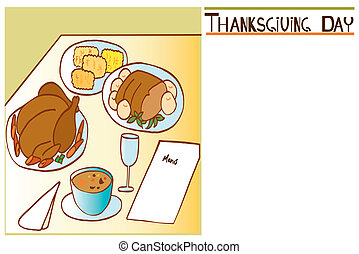 Thanksgiving Day invitation 2 - Is an illustration to which...