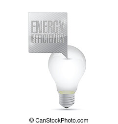 energy efficiency light bulb illustration design