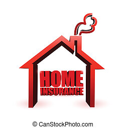 home insurance illustration design graphic over a white...
