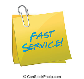 fast service written on a post. illustration design