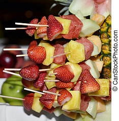 Fruit Kabobs ,Close Up Shot