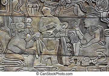 Mexican Archeology - MEXICO CITY - MAR 20:Engraving from the...