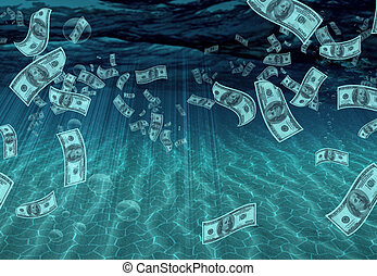Liquid Assets - Underwater Scene with Multiple Hundreds