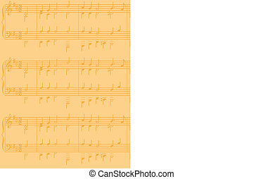 sheet music vector background - A sheet music vector...