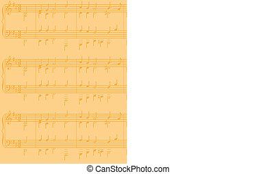 sheet music vector background - A sheet music vector...