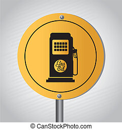 station gas signal over gray background vector illustration