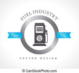 fuel industry over white background vector illustration