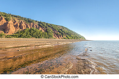 Rocks of the Blomidon cliffs at low tide (Blomidon...