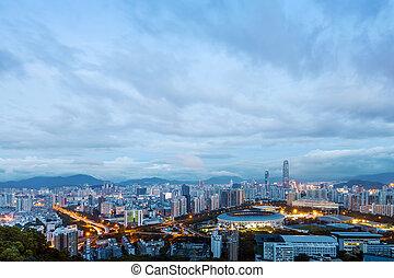 Shenzhen - China's Shenzhen city in the night